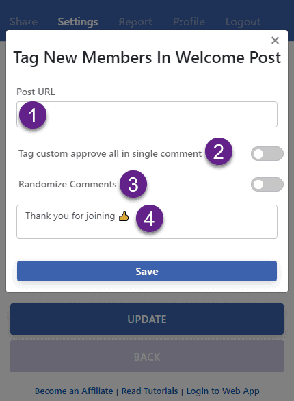 Tag all new members automatically in a FB group welcome post
