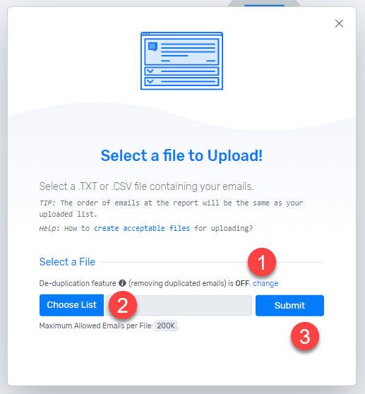 Bulk email list cleaning with Debounce.io