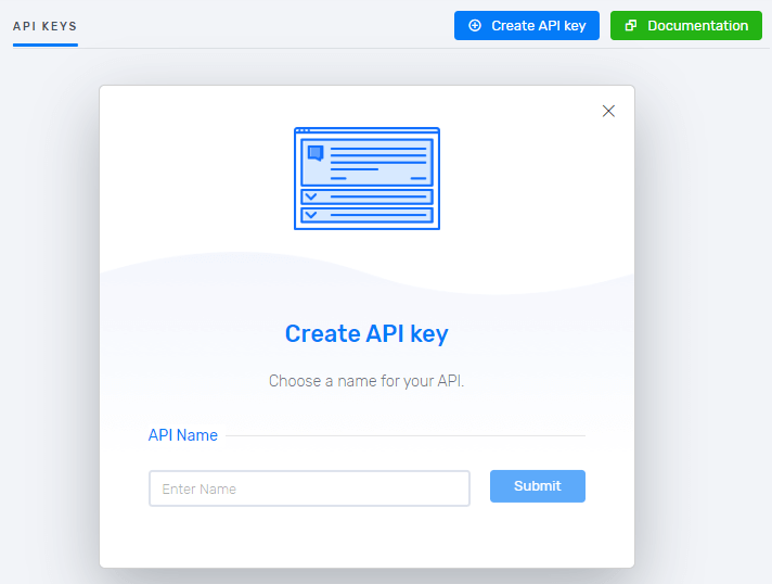 Create and use API keys in Debounce.io