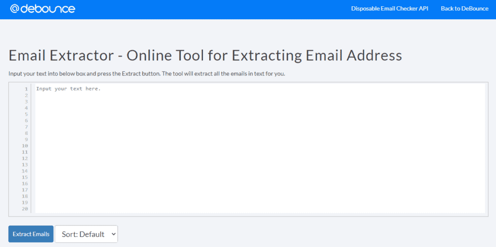 Extract emails from text file