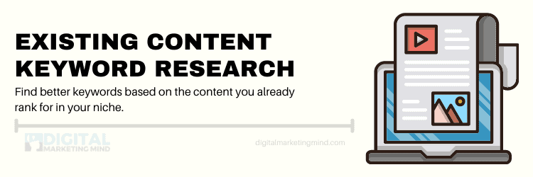 Existing content keyword research