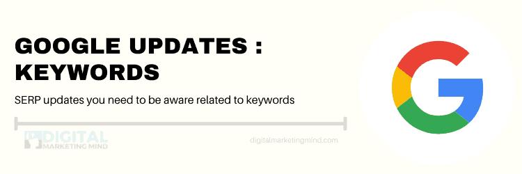 Google updates for keywords