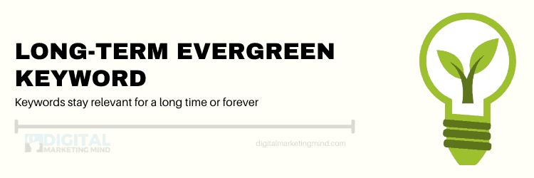 Long term evergreen keywords