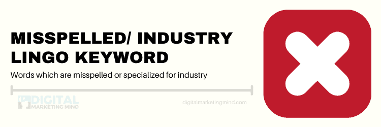 Misspelled or industry lingo keyword
