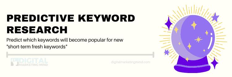 Predictive keyword research