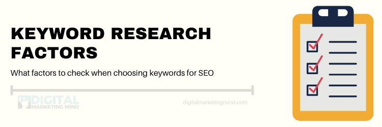 How to choose keywords for SEO: Factors