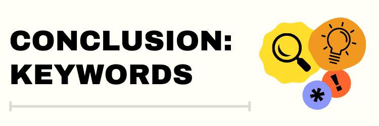 Keywords conclusion