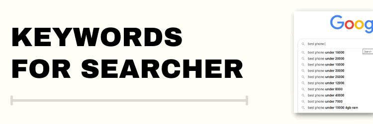 Keywords for searcher