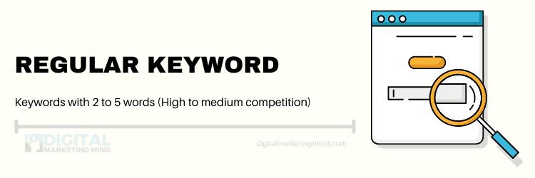 Regular mid tail keywords