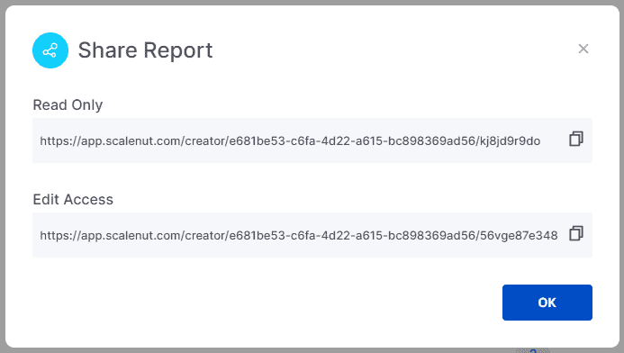 Share report