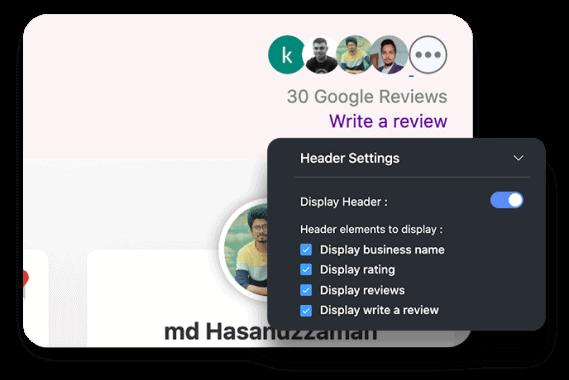 Social reviews design