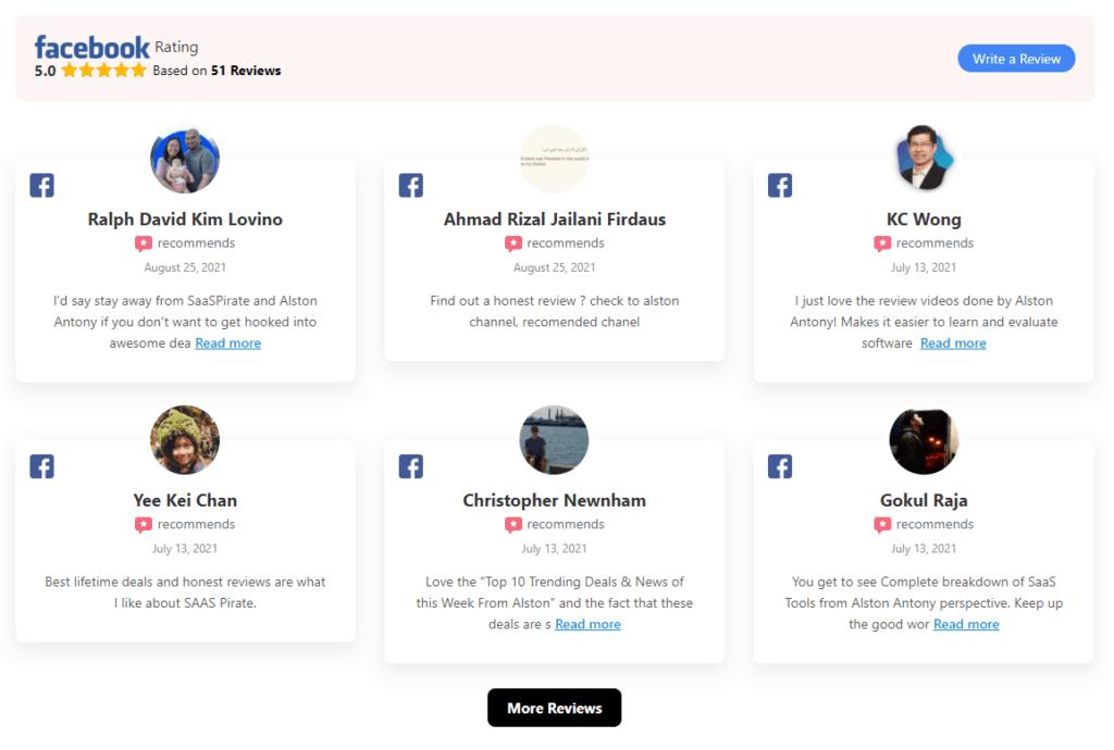 Social reviews using WP social ninja