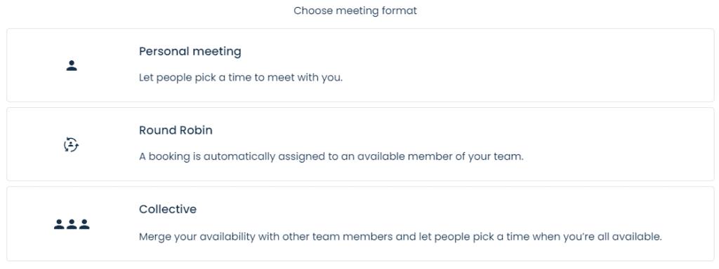 Meeting formats